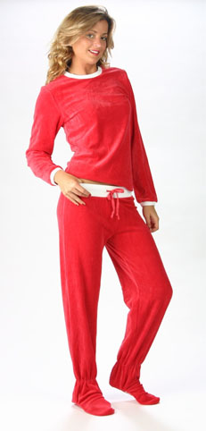 Red Footzie Pant and Tee